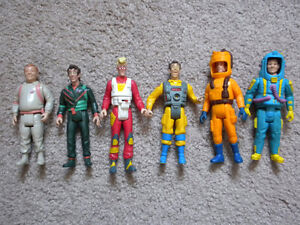 vintage Ghostbusters action figures