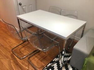 Ikea dinning table with 4 Tobias chairs for $350 or best offer