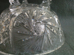 Collectible Antique Crystal Three Footed Bowl London Ontario image 6