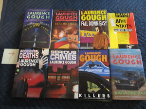 LAURENCE GOUGH 8 HARD COVER MYSTERY BOOKS