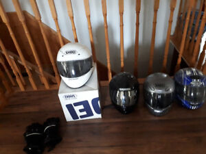 shoei helmet and other assorted motorcycle gear