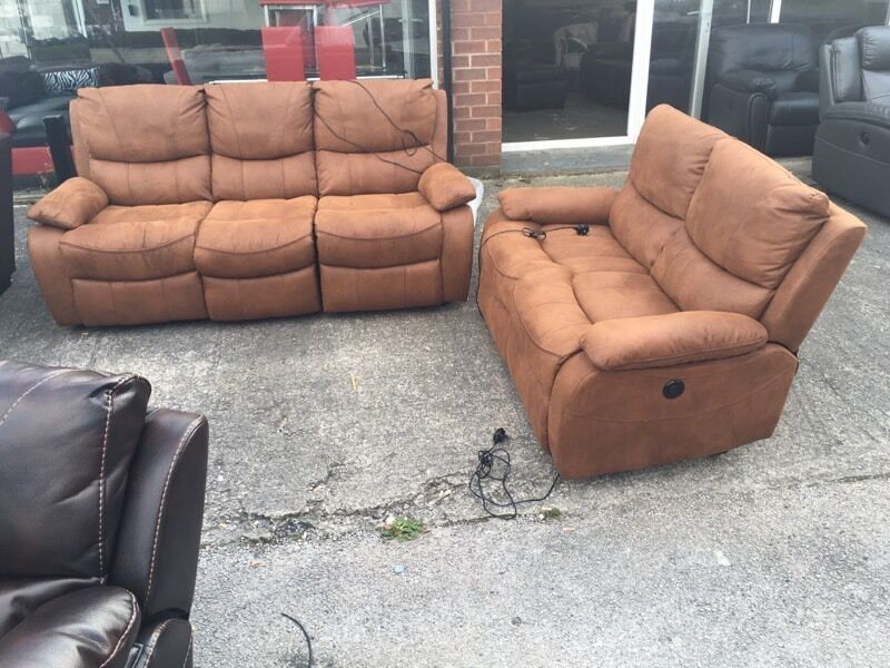 Harvey S Bel Air Electric Power Recliner 3 And 2 Seater