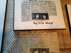 Beatles newspaper clippings Kitchener / Waterloo Kitchener Area image 6