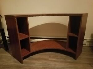 Brown TV Stand with 4 little shelves 20$