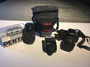 Pentax PZ10 35mm SLR film camera and lenses