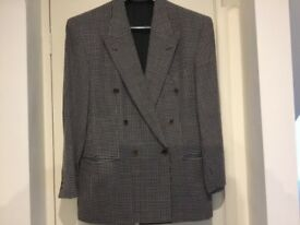 Men's Boss Double Breasted Grey Jacket.
