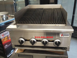 """GRILLE 24"""" ***NEUF*** CHARCOAL BBQ ***NEW*** CHARBROILER GRILL"""