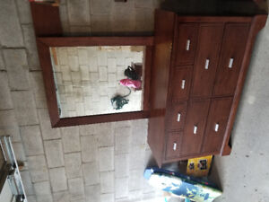 Wood bedroom set for sell