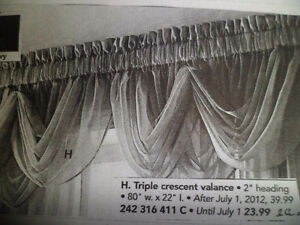 Valance Voile Sheers & curtain rod