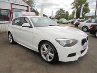 BMW 1 SERIES 120D M SPORT SPORTS HATCH S-S White Manual Diesel, 2014