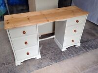 Pine dresser unit dressing table shabby chic