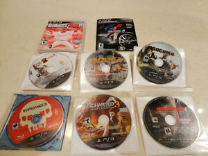 Selling 6 PS3 Games -Killzone,Resistance,Socom, Uncharted +