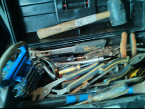 Assorted Used Hand Tools With Tool Box