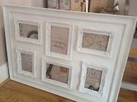 White Multi Aperture Photo Frame- Wedding Prop