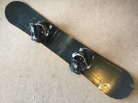 Snowboard 155cm with quick releases bindings