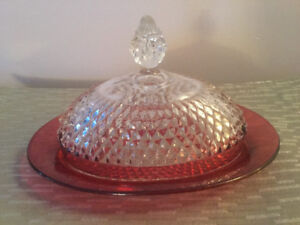 Vintage Butter Dish with Cover