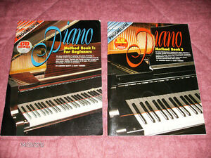Two Piano Instruction Books with CDs