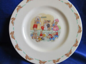Plate extremely rare  bunnykins royal doulton