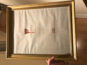 picture frame - gold