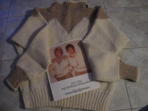 CHATELAINE CRAFT PULLOVER PATTERN...AND...the COMPLETED PULLOVER
