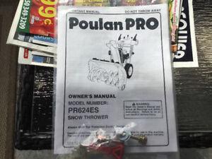 Souffleuse Poulain Pro.