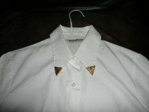 Western Shirt Gold Collar Clips