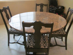 GRANITE TABLE WITH OR WITHOUT 6 CHAIRS
