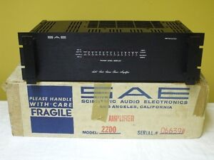 SAE 2200 Stereo Power Amplifier Audiophile Quality