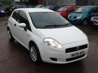 FIAT PUNTO GRANDE ACTIVE 2008 IN THE BEST COLOUR WHITE