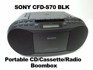 SONY CFD-S70 BLK Portable CD/Cassette/Radio Boombox - $25