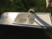 Free, Grey type worktop and sink