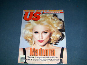 MADONNA-COVER & ARTICLE-1991-US MAGAZINE-VINTAGE!