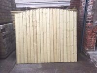 🔨🌟Excellent Quality Close Board Tanalised Bow Top Garden Fence Panels