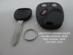 1 New LHJ011 Replacement Keyless Entry Remote Fob +1 Ignition Ke