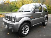 06/06 SUZUKI JIMNY 1.3 VVT AUTOMATIC 4X4 IN MET GREY WITH ONLY 53,000 MILES