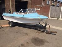 70's speed boat project for sale with trailer