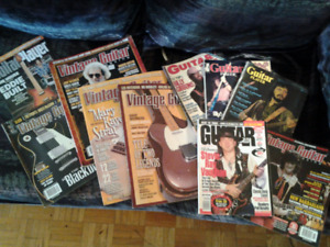 Vintage guitar mags for sale