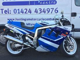 1992 Suzuki GSX-R1100 Classic Sports Bike / Just 3149 miles from new!