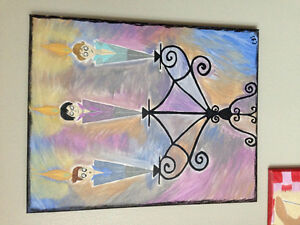 Original quirky acrylic paintings