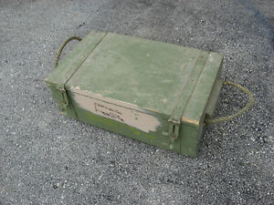 LOCKABLE MILITARY ARMS BOX, WOODEN......OWEN SOUND