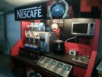 Complete Coffee Display and Snack Centre with Storage PRICE DROP