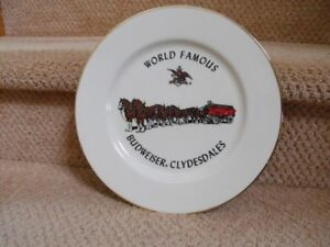 Budweiser Clydesdales Gold Rimmed Decorative Plate