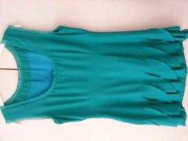 Smart dress, green, Coast, size 14 - brand new