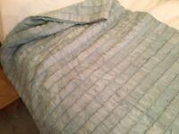 Duck egg Blue bedspread