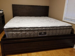 King bed with mattress sets(from Costco, less than a year)