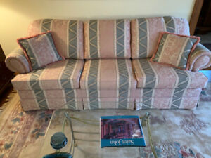 Barrymore Couch and Oriental Wool Rug - Excellent Condition!