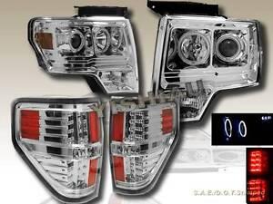 2009 2013 ford f150 halo ccfl led projector headlights led tail lights. Black Bedroom Furniture Sets. Home Design Ideas