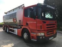 2007 07 Scania P310 6x2 18800 litre fuel tank, delivery reel, digital meter