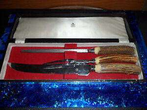 Vintage Birks Antler Handle Cutlery Set  $60