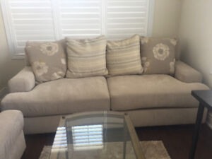 Beautiful & Comfortable Fabric Sofa Set - Loveseat & Couch